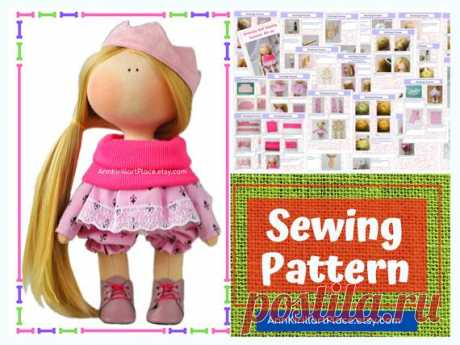 Interior Doll Tutorial, Tilda Doll DIY Pattern, Handmade Doll Sewing Pattern PDF, How to Sew Cloth Doll by Natalia Pe Handmade Doll Sewing Pattern PDF by master Natalia Pe  Pattern uncludes full Doll and Cloth sewing tutorial. ~ ~ ~ ~ ~ ~ ~ ~ ~ ~ ~ ~ ~ ~ ~ ~ ~ ~ ~ ~ ~ ~ ~ ~ Pattern does not include shoes. ~ ~ ~ ~ ~ ~ ~ ~ ~ ~ ~ ~ ~ ~ ~ ~ ~ ~ ~ ~ ~ ~ ~ ~  Pattern is for 20 cm (7.8 inch) interior doll by master