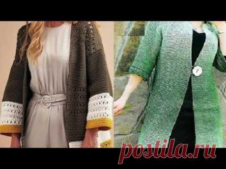 Вяжем крючком кардиган со схемами для женщин - Crochet cardigan with patterns for women