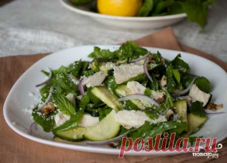 Салат с кабачками и курицей - пошаговый рецепт с фото на Повар.ру