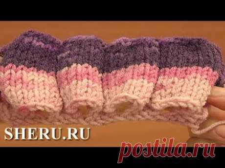 Free Knitting Stitch Pattern  Урок 17 Как вязать узор спицами трубочки