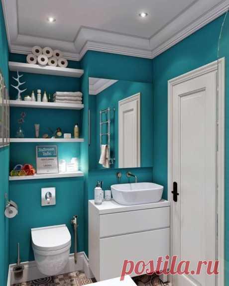 Бирюзовый цвет в ванной - Дизайн интерьеров   Идеи вашего дома   Lodgers