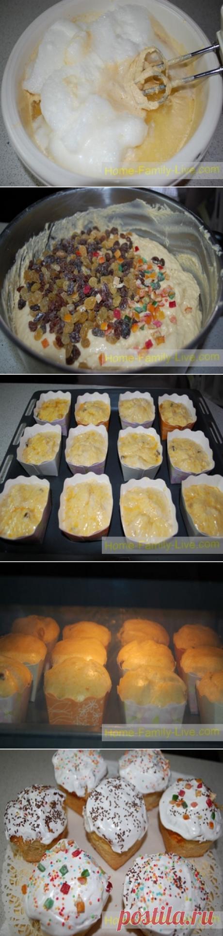 Кулич пасхальный - пошаговый фото рецептКулинарные рецепты