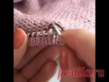 Кетлевание сшивной иглой - YouTube