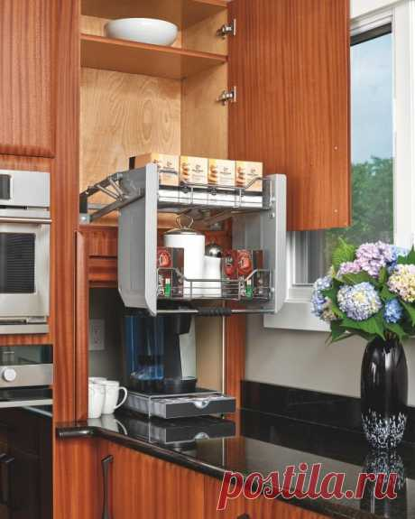 Clever sliding systems for kitchen of which each hostess dreams!