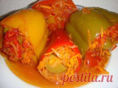 Перец, фаршированный овощами на зиму | NashaKuhnia.Ru