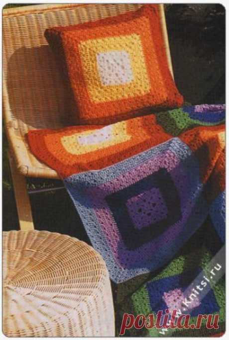 Красочные комплекты: подушки и пледы — Делаем руками