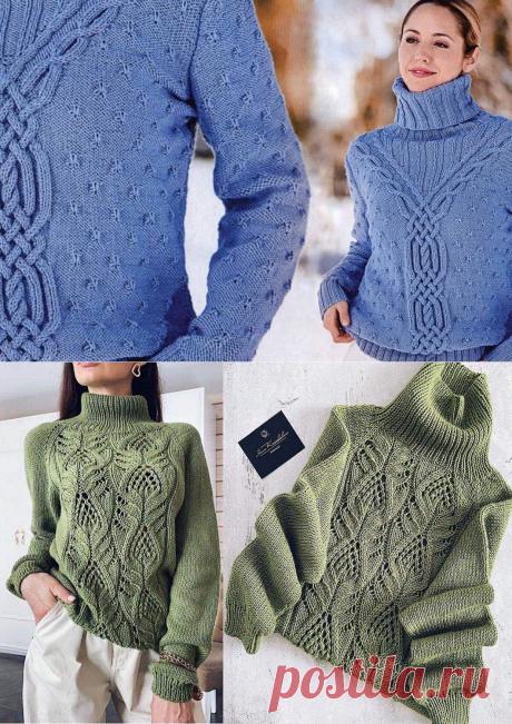 5 красивых свитеров спицами на прохладную погоду. Описание и схемы вязания | Рекомендательная система Пульс Mail.ru