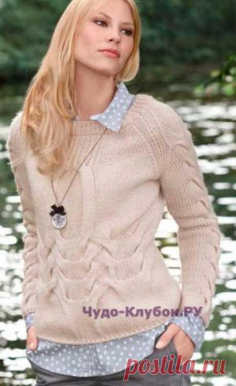 1014 A pullover with sleeves a raglan | ЧУДО-КЛУБОК.РУ
