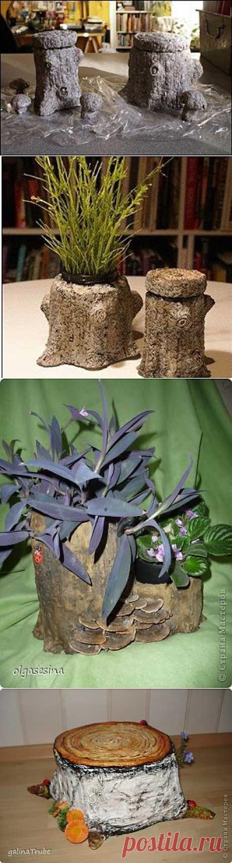 Декоративный пенек из папье-маше в интерьере | Страна Hand Made