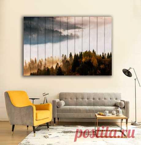 """Картина """"Лесной пейзаж"""" по цене от 5900 руб. Размеры: 60x90 см, 80x120 см, 100x150 см, 120x180 см. Срок изготовления: 2-3 дня."""