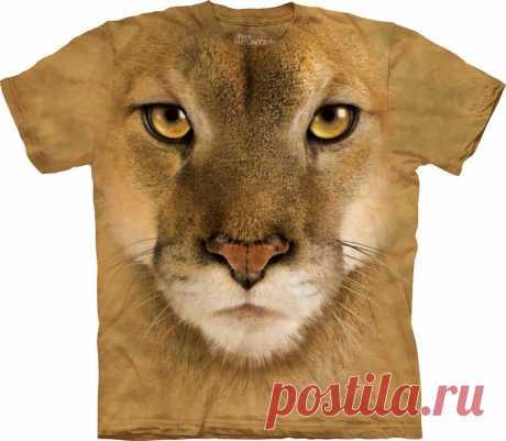 Арт № 103364 Футболка The Mountain - Mountain Lion Бесшовная футболка -варенка 100% хлопок Размеры   S, M, L,XL, XXL, XXXL Рисунок нанесен красками на водной основе. Не выгорает, не тянется