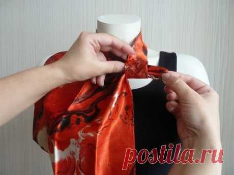 Как красиво завязать платки, шарфы, платочки