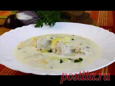 Сырный суп с курицей видео рецепт