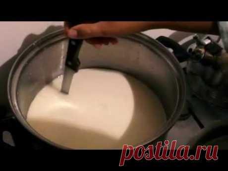 Приготовление сыра в домашних условиях. Всего 2 ингредиента.
