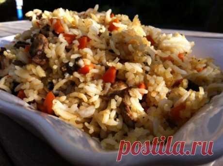 Ароматный грибной рис для тех, кто не ест мясо!