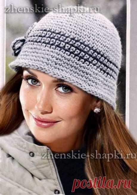 Los gorros tejidos para las mujeres. Los esquemas de la labor de punto más  de 4c847019c9a