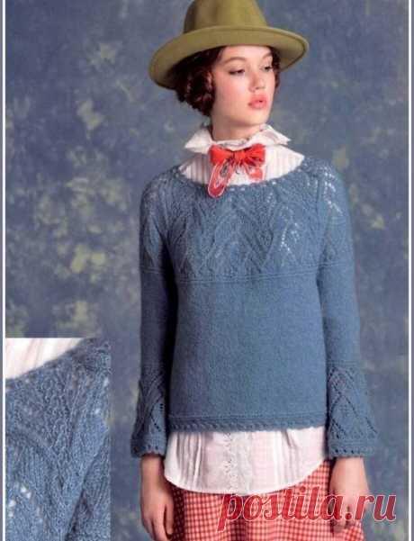 Красивые джемперы с круглой кокеткой.💥   Asha. Вязание и дизайн.🌶   Яндекс Дзен