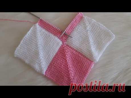 Patchwork kırkyama örgü, bebek battaniyesi yatak örtüsü çok amaçlı örgü modeli, blanket knitting