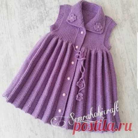 Вязание плиссированной юбочки  #детям #вязаниедетям #лучшаятема