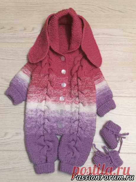 Комбинезон для новорожденного. | Вязание спицами для детей