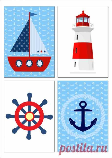 Стильные постеры в морской тематике!!!