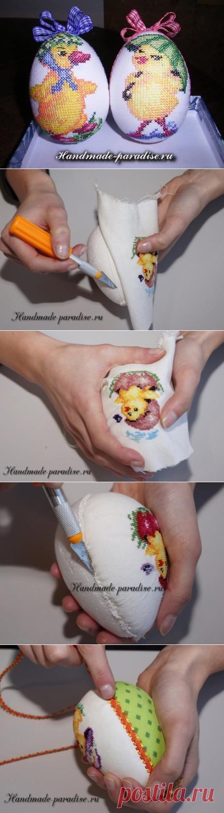 Веселые пасхальные яйца с вышивкой - Handmade-Paradise