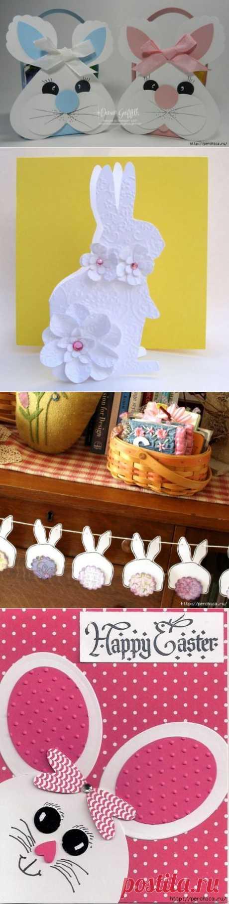 Пасхальный кролик из бумаги и картона - мк и идеи для творчества с детьми и подарков.