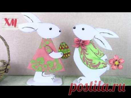 Пасхальные кролики своими руками/ DIY Easter bunnies. ХоббиМаркет