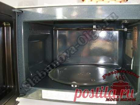 How to wash a microwave. Photo