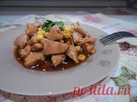 Блюдо для гурманов - Медовая куриная грудка в соевом соусе Любимое блюдо моего мужа!