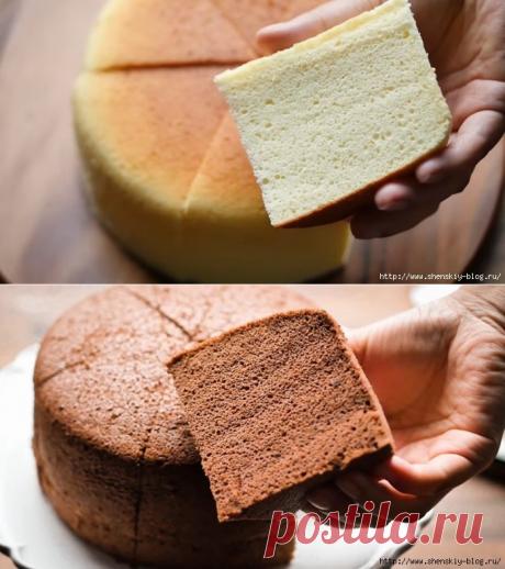 Кулинарная хитрость: нежный бисквит, который всегда получается пышным и высоким!