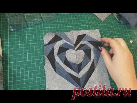 шьем из мелких обрезков джинсов.#DIY#patchwork#лоскутноешитье