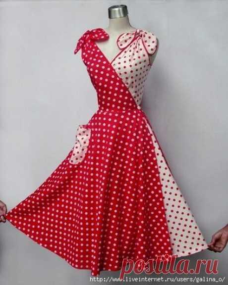 Платье  трансформер 50-х годов Все самое новое, хорошо забытое старое. Удивительное платье трансформер. Мне очень понравилась эта идея. Источник ВК.