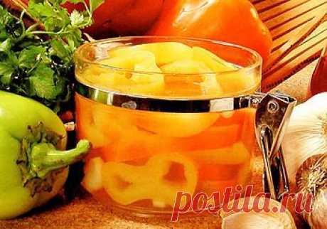 Рецепт приготовления маринованного перца на зиму - Овощи на зиму . 1001 ЕДА вкусные рецепты с фото!