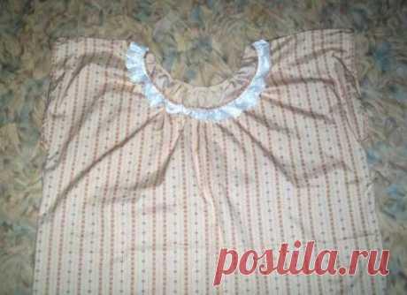 Для новичков в шитье: как сшить ночную рубашку | Самошвейка - сайт для любителей шитья и рукоделия