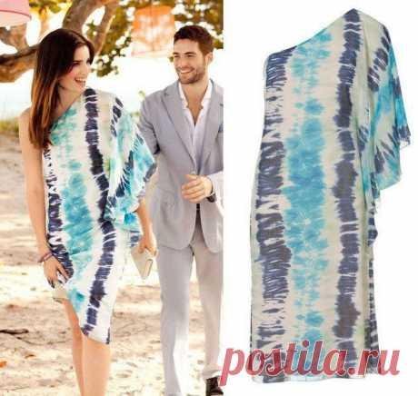 Накидки на одно плечо (подборка).  Все еще модная и красивая на пляже одежда «на одно плечо», выкройки и идеи:Читать дальше