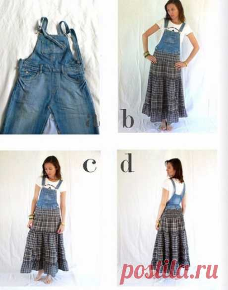 Magnificent ideas for the embodiment of their old jeans clothes and not only. Denim, is surprisingly combined absolutely with everything!