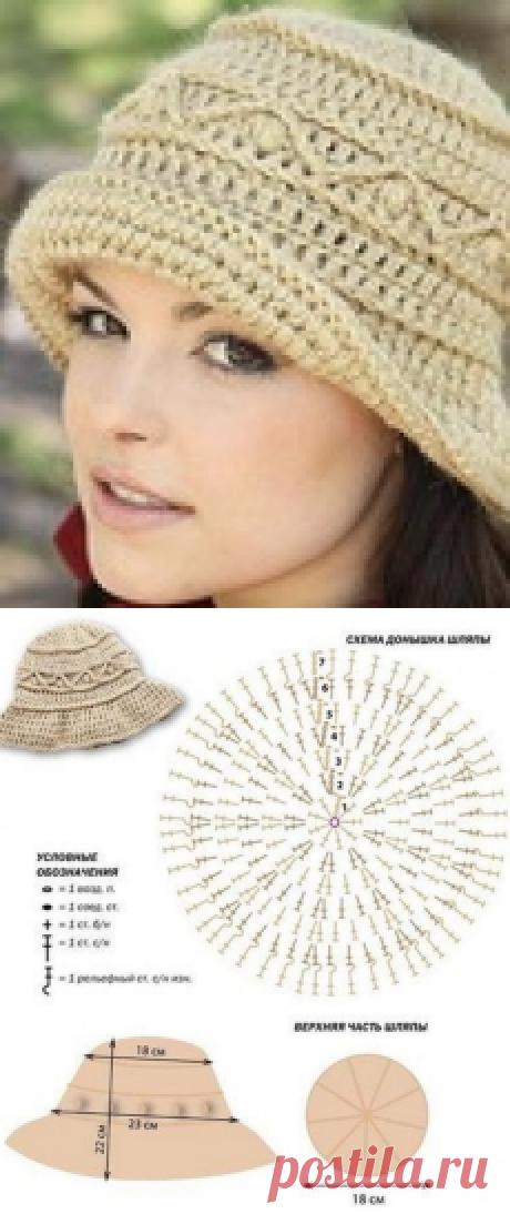 Вязаная шляпа для лета