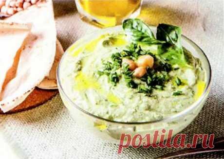 Зеленый хумус с базиликом рецепт с фото пошаговый