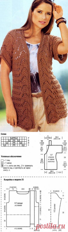 Женский жилет и пуловер спицами