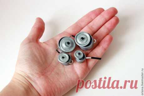 Видео мастер-класс: делаем миниатюрные кастрюльки из полимерной глины – Ярмарка Мастеров