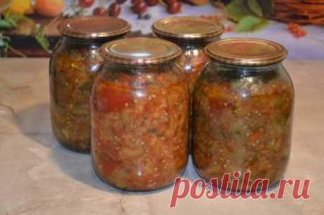 Салат из баклажанов со сладким перцем в томатном соусе. Заготовки на зиму.