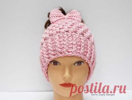 Элегантная шапочка для тех у кого длинные волосы. #вязаные_идеи