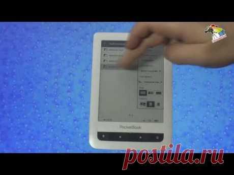Pocket Book Touch el libro electrónico. La instrucción de Lenfilm