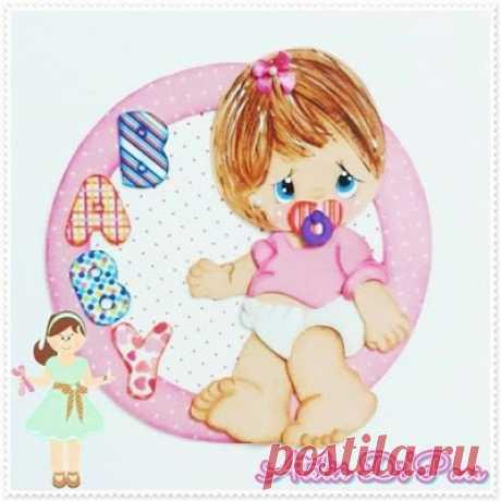 Aplique bebê em eva com molde - Criativo Ok