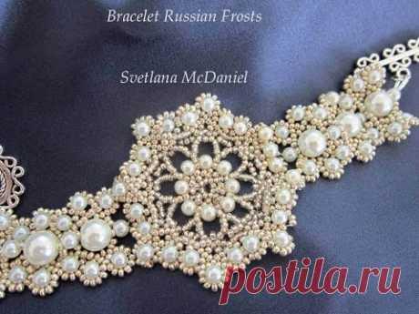 Beaded Bracelet Russian Frosts Браслет из бисера Русские Морозы