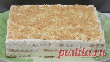 ОСТАНОВИТСЯ НЕВОЗМОЖНО!!! Вкусшейший Творожный Торт без выпечки из печенья
