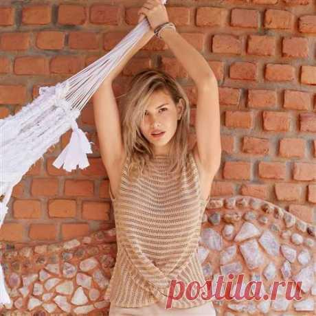 Розовый топ с драпировкой - схема вязания спицами. Вяжем Топы на Verena.ru