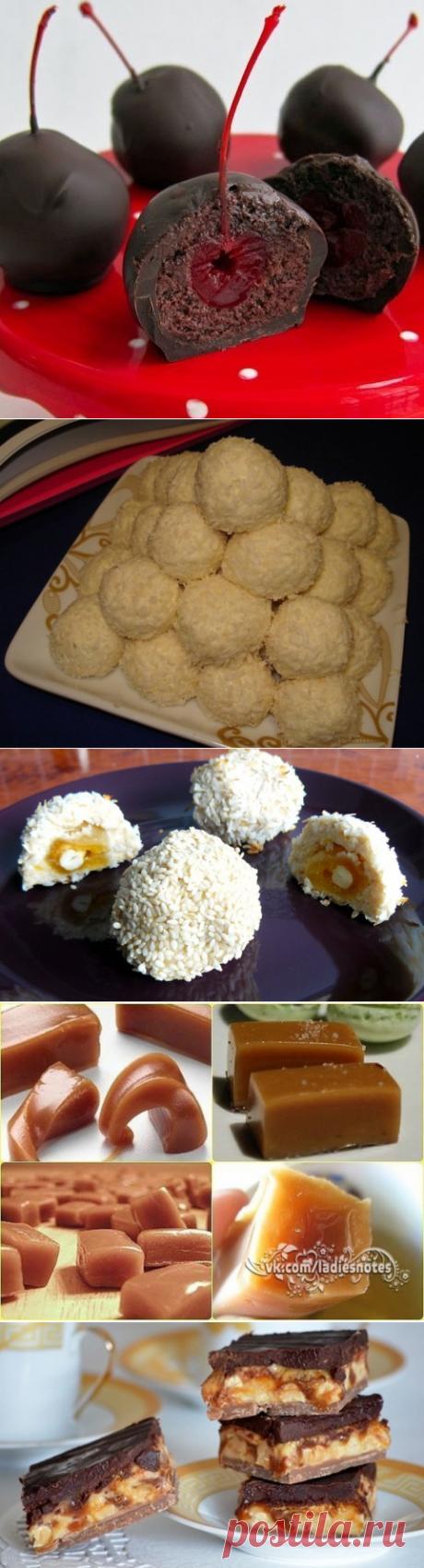 Домашние конфеты - часть четвёртая - рафаелло, сникерс, творожные, коровка, ириски