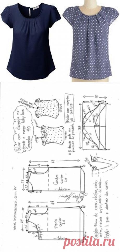 Простая выкройка блузы на каждый день (Шитье и крой) – Журнал Вдохновение Рукодельницы